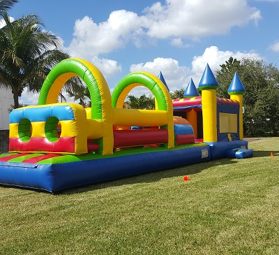 Miami Affordable Kids Party Rental Bounce House Slide Combos