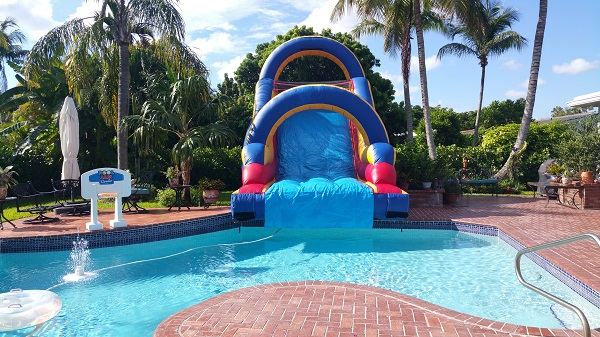 Water Slide 20ft Into Pool